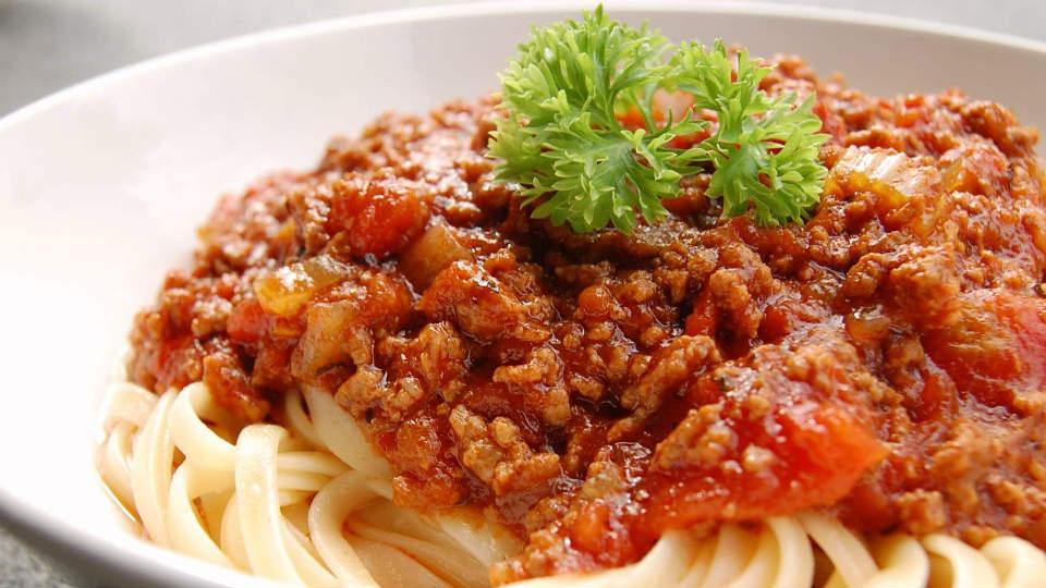 Spaghetti Bolognaise khas Italia